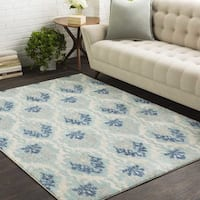Emily Soft Blue Ikat Area Rug - 9'3 x 12'6