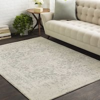 Colony House Vintage Oriental Light-Grey Area Rug - 9'3 x 12'6