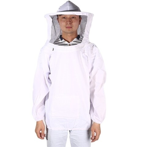 Beekeeping Large Pull Over Smock with Veil White Suit