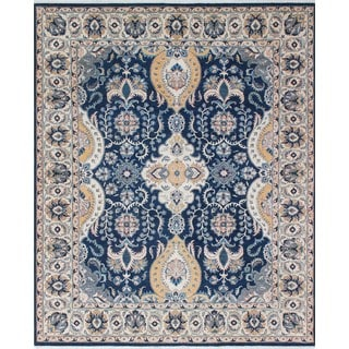 Noori Rug Yousafi Fine Chobi Aynur Blue/Ivory Rug - 8'0 x 9'8