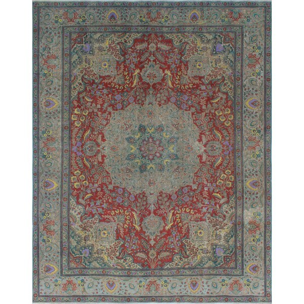 Shop Noori Rug Fuat Rust Grey Distressed Overdyed Rug 9 6