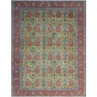Noori Rug Distressed Overdyed Dilay Gold/Rust Wool Rug (9'10 x 12'1)