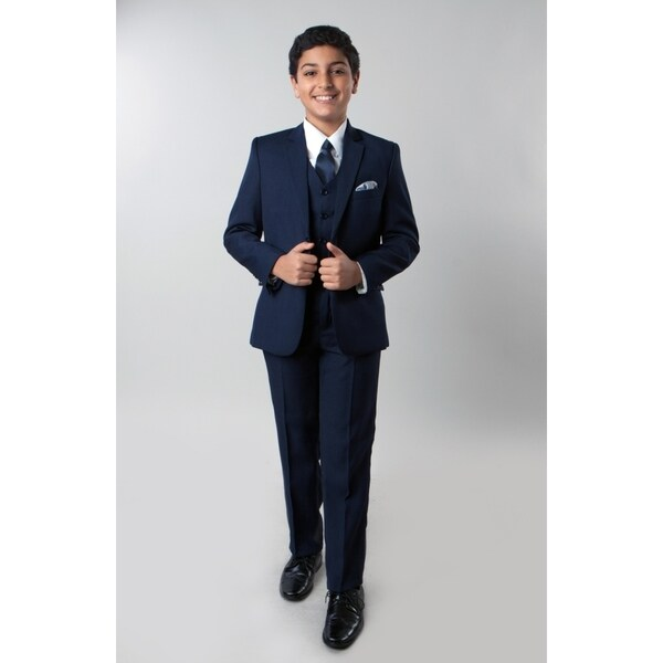 Tazio Boy's 5 Piece Suit Navy