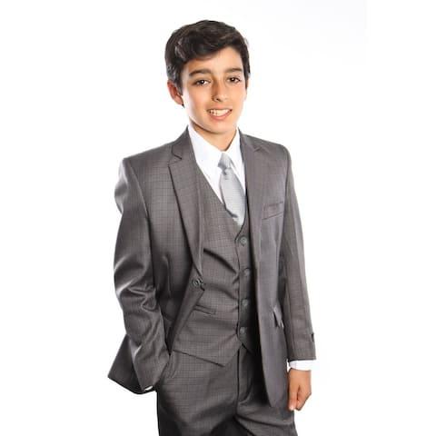 Tazio Boy's 5 Piece Suit Grey