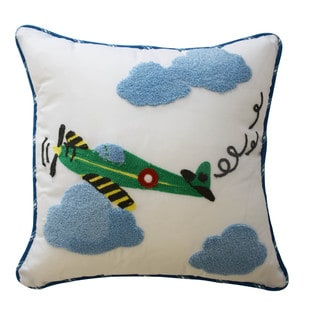 Waverly Kids In the Clouds Airplane Decorative Accessory Pillow