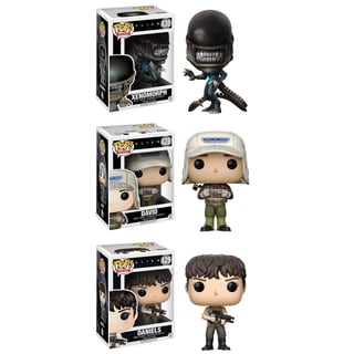 Funko POP! Movies Alien Covenant Collectors Set; Xenomorph, David, Daniels