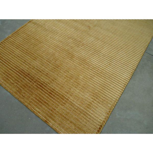 "Orange Silk/Viscose Handmade Area Rug - 7'6"" x 9'6"""