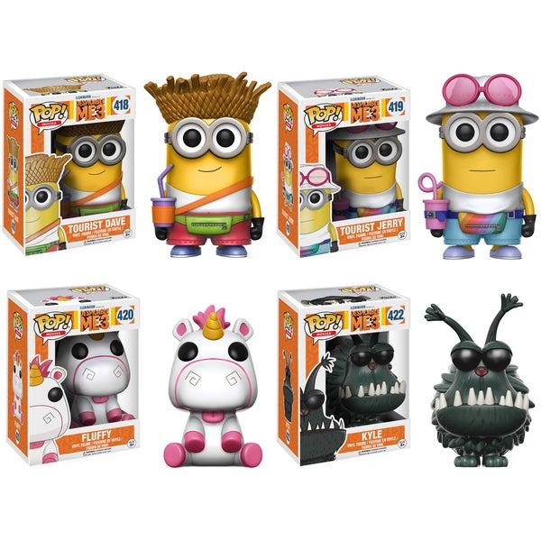 Funko POP! Movies Despicable Me 3 Collectors Set; Tourist Dave, Tourist Jerry, Fluffy, Kyle