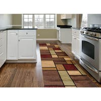 """Contemporary Modern Boxes Multi Area Runner Rug - 2' x 7'2"""""""