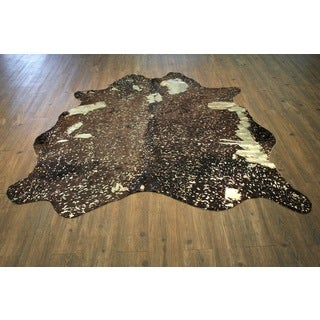 100% Premium Hair-On Cowhide Metallic Gold Glossy 100% Real  Natural Cow ( 5' X 7' ) - 5' x 7'