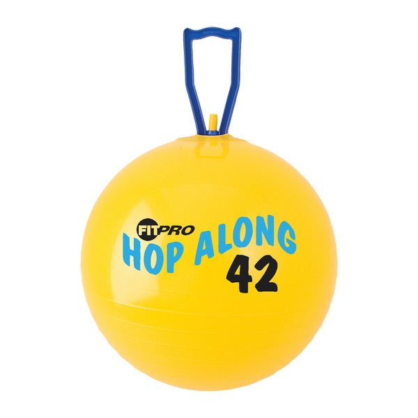 "Champion Sports FitPro Hop Along Pon Pon Ball, 16.5"", Yellow, Junior"