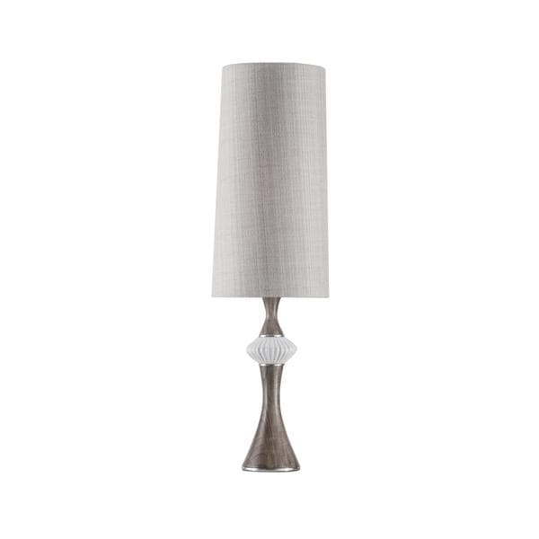 Mid Century Observation White Gloss Accent Lamp