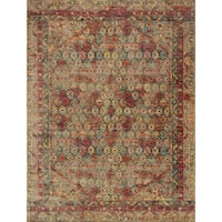 Transitional Bohemian Rust/ Multi Rug - 9'6 x 12'6