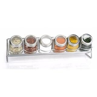 Euro-Ware 6 Piece Glass Spice Jar with Rack