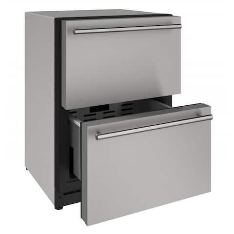 U-Line 24-inch Stainless Steel Panel 115v Refrigerator Drawers