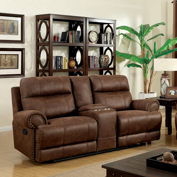 Shop Furniture Of America Tis Contemporary Brown Fabric
