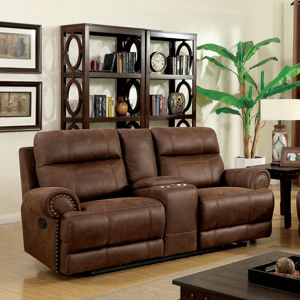 Sites Like Overstock For Furniture: Shop Furniture Of America Tis Contemporary Brown Fabric