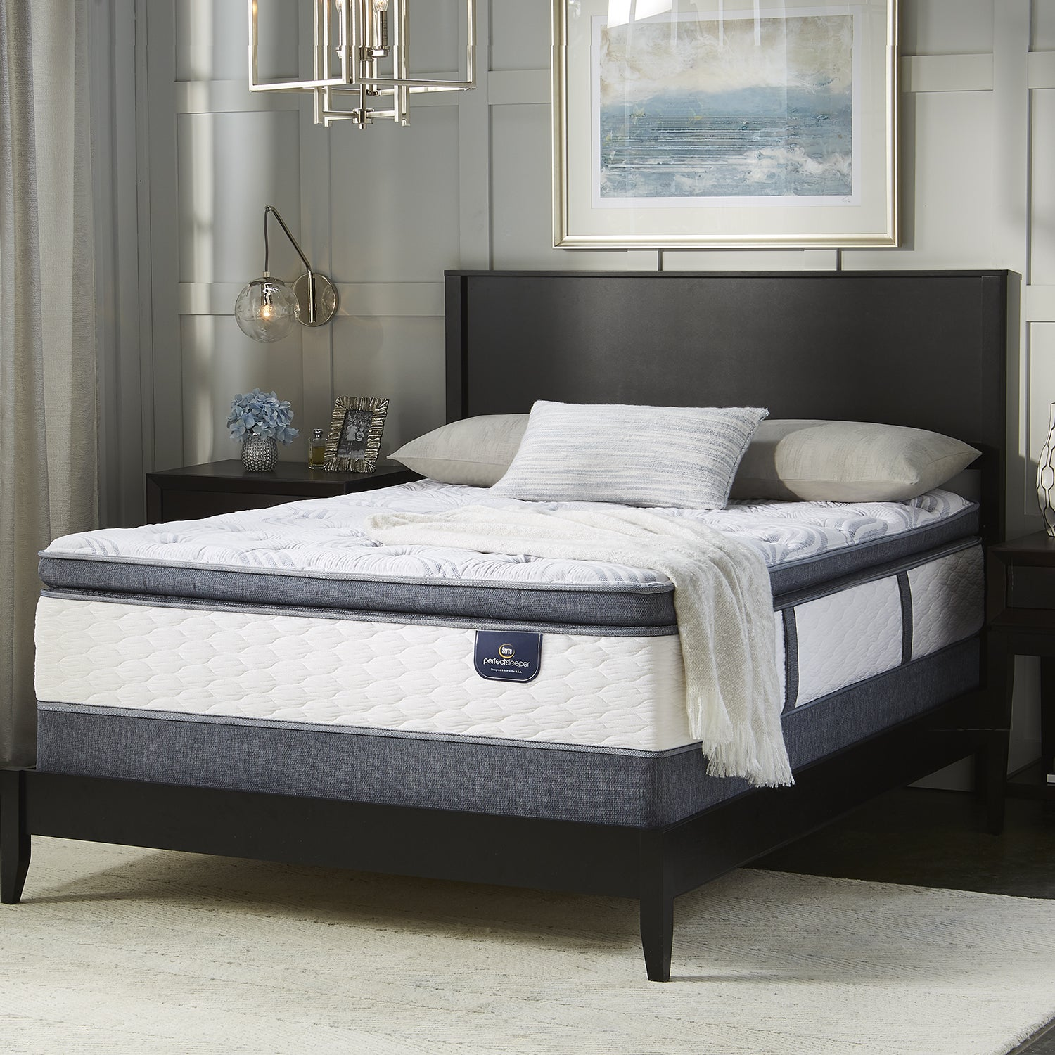 Serta Wayburn Super Pillow Top Split Queen-size Mattress ...