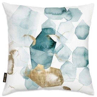 Oliver Gal 'Pebbles in the River Peacock'DecorativeThrow Pillow
