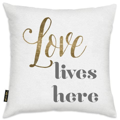 Oliver Gal 'Love Lives Here'DecorativeThrow Pillow