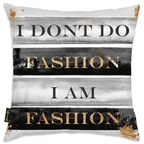 Oliver Gal 'I Am Fashion Books'DecorativeThrow Pillow