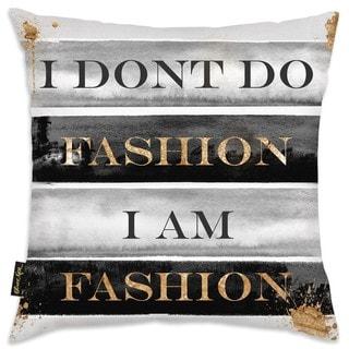 Oliver Gal 'I Am Fashion Books'DecorativeThrow Pillow