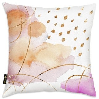 Oliver Gal 'Rain or Shine Gold' Decorative Throw Pillow