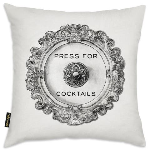 Oliver Gal 'Press For Cocktails'DecorativeThrow Pillow
