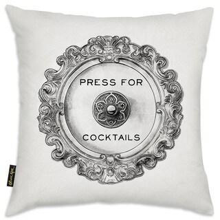 Oliver Gal 'Press For Cocktails'DecorativeThrow Pillow