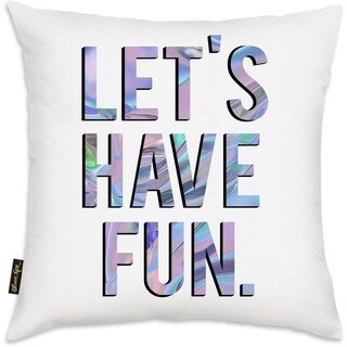Oliver Gal 'Let's Have Fun' Decorative Throw Pillow