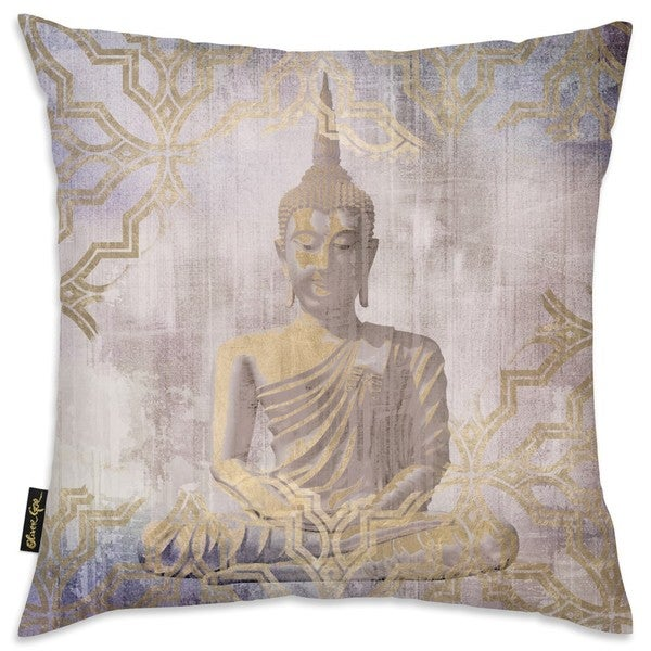 Oliver Gal 'Buddha In Peace' Decorative Throw Pillow