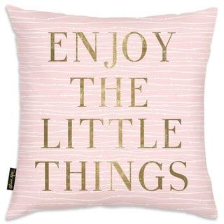 Oliver Gal 'Enjoy Everything' Decorative Throw Pillow