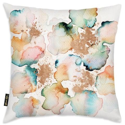 Oliver Gal 'Rose Gold Garden' Decorative Throw Pillow
