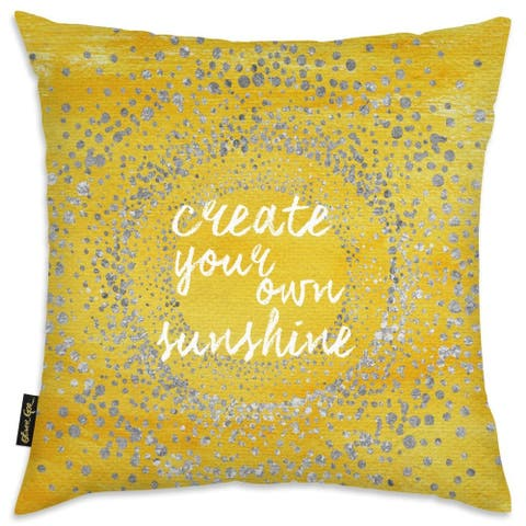 Oliver Gal 'Your Own Sunshine' Decorative Throw Pillow