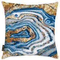 Oliver Gal 'Bleu Agate' Decorative Throw Pillow