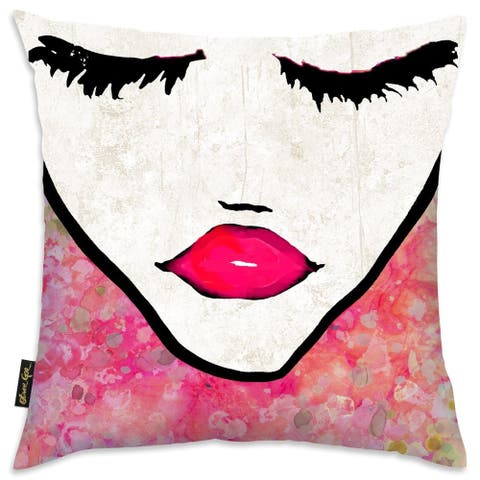 Oliver Gal 'Flower Coveted' Decorative Throw Pillow