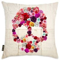 Oliver Gal 'Bed of Roses' Decorative Throw Pillow