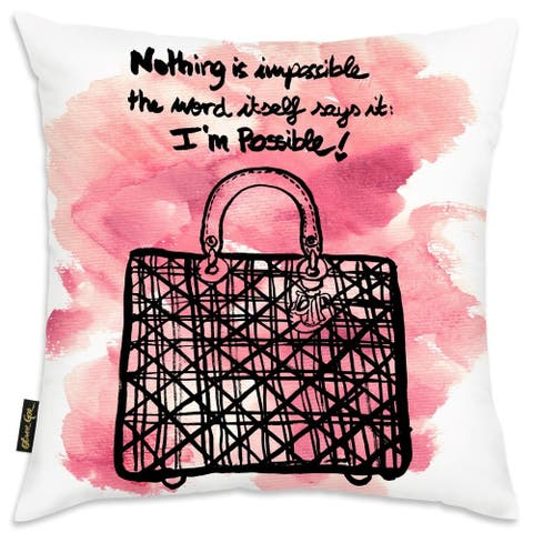 Oliver Gal 'Nothing is Impossible' Decorative Throw Pillow