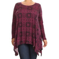 Women's Plus Size Burgundy Paisley Tapestry Tunic