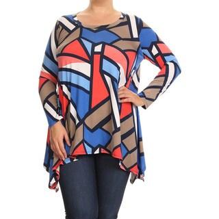 Women's Plus Size Abstract Geometric Tunic