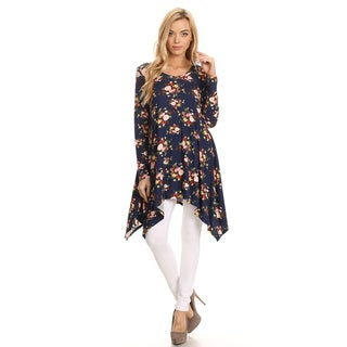 Women's Navy Floral Jersey Knit Tunic