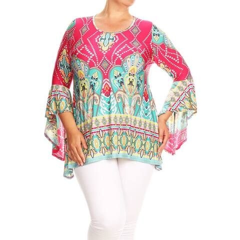 Women's Plus Size Paisley Tapestry Tunic