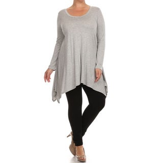 Women's Plus Size Solid Jersey Knit Tunic