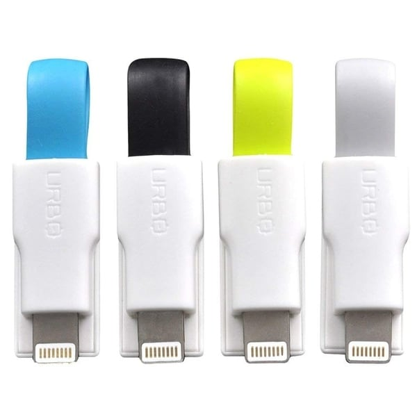 Blue Urbo Keyring Charger with USB-A to Micro-USB Connector