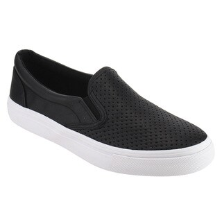 Soda IF14 Women's Perforated Slip On Elastic Panel Fashion Sneaker (More options available)