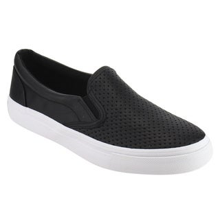 Soda IF14 Women's Perforated Slip On Elastic Panel Fashion Sneaker