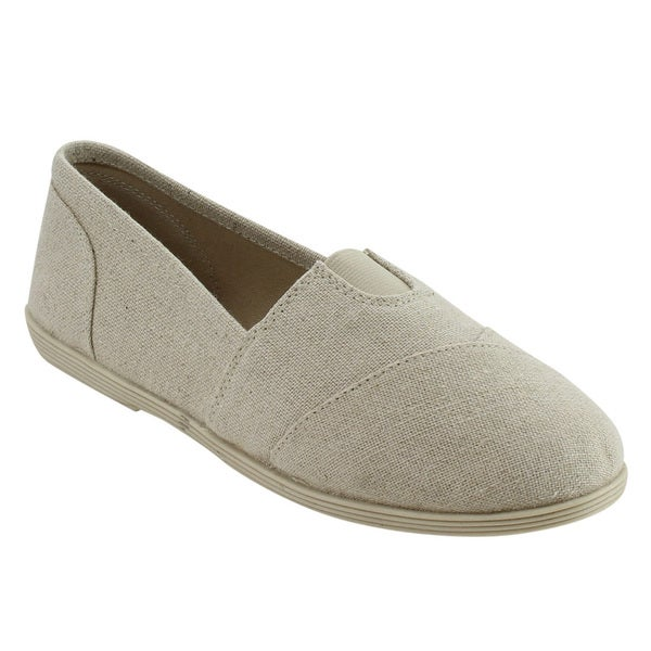Soda IE54 Women's Slip On Casual Canvas Flats