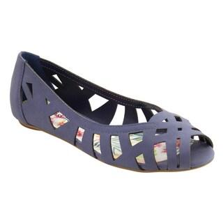 CityClassified IE56 Women's Peep Toe Cutout Strappy Flat Sandals