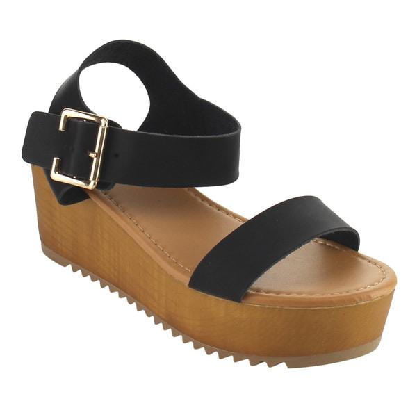 514cc313f8c Shop Soda ID51 Women s Buckle Ankle Strap Platform Sandals - Free ...