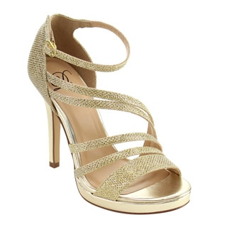 Delicious IE06 Women's Glitter Ankle Strap Platform Stiletto Heel Dress Sandal